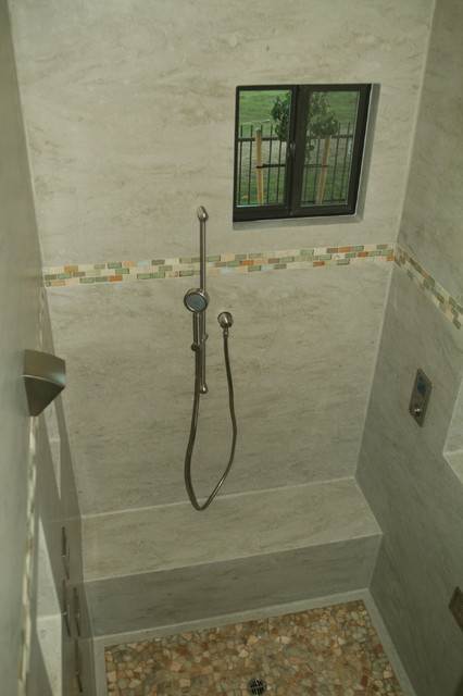Corian Sagebrush Shower Contemporary Bathroom San Francisco By Butle