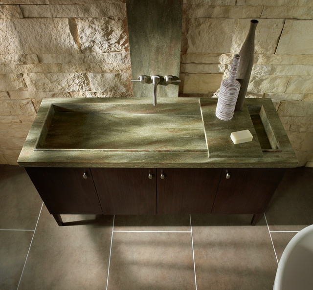 Corian In Rosemary Bathroom Other Metro By Gerhards The Kitchen