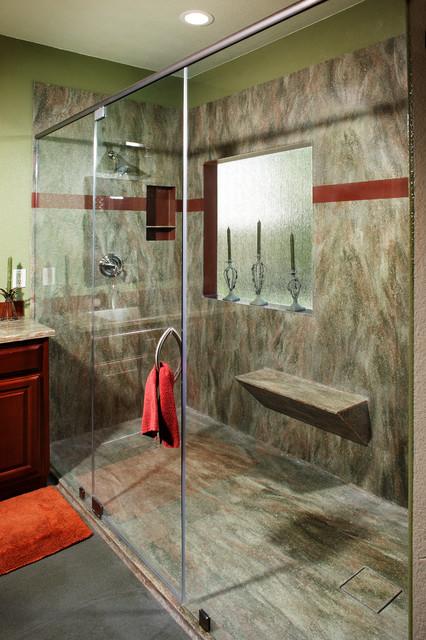 Corian Rosemary Seamless Shower By Signature Surfaces Contemporary Bathroom Sacramento