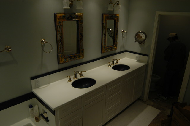 Corian Shower Tub And Vanity Contemporary Bathroom Sacramento By Spectrum Solid