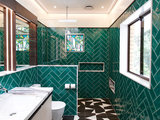 News idee per rivestire il bagno con piastrelle verde
