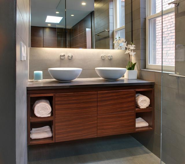 Corl Residence modern-bathroom