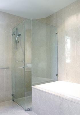 Corner Frameless Gl Shower Enclosures Contemporary Bathroom