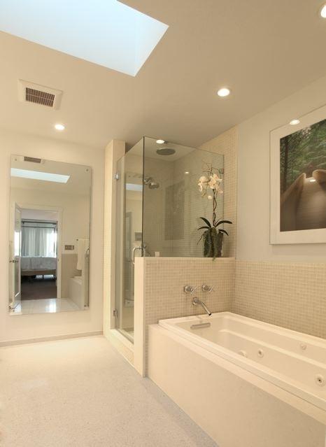 Corner Glass Frameless Shower Doors Traditional Bathroom Los Angeles