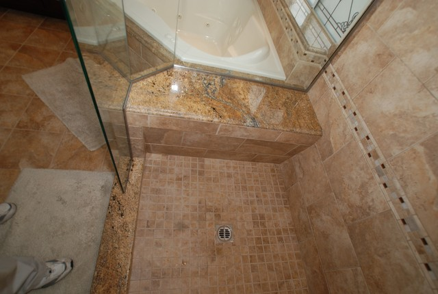 corner tub u0026 shower seat master bathroom yorba linda