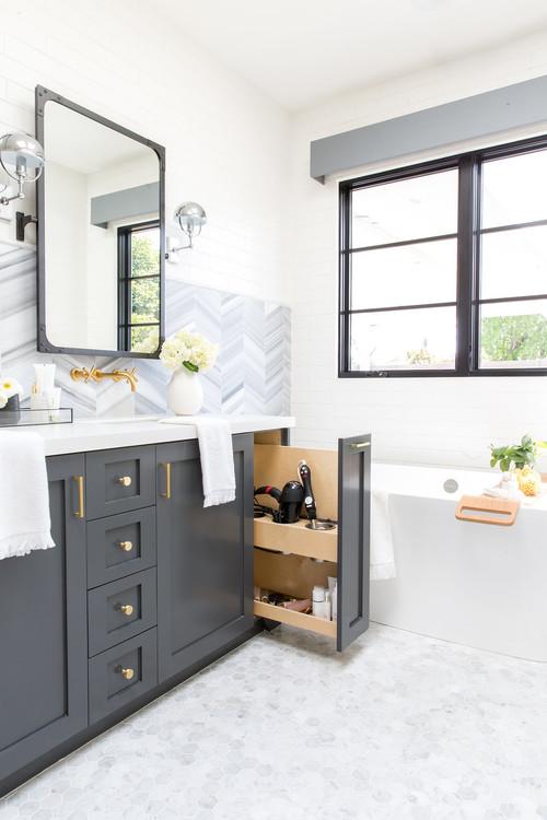 Contemporary Farmhouse Master Bathroom Renovation in Portland Oregon