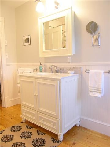 Cottage Style Bathroom Makeover Traditional Bathroom