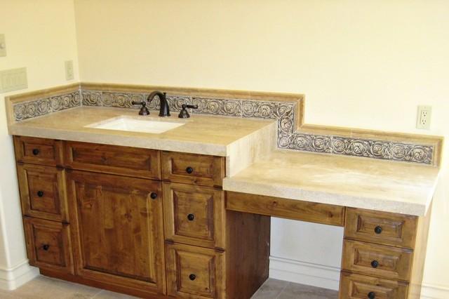 Countertops Rustic Bathroom Los Angeles By Designs