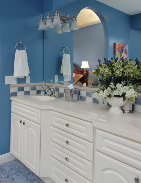 Country charm traditional bathroom detroit by for Periwinkle bathroom ideas