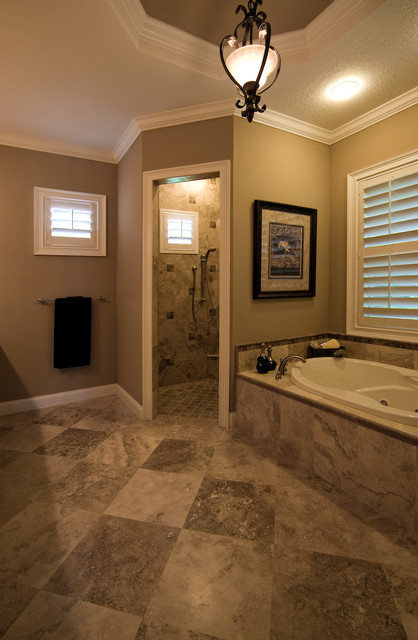 Country Classic Tiles Traditional Bathroom Tampa