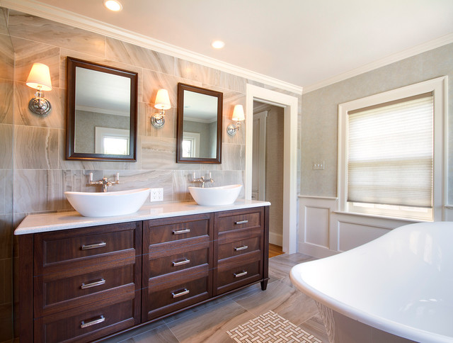 Country Club Lane Transitional Bathroom Boston By