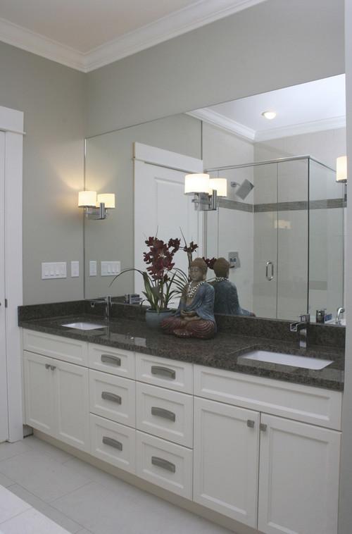Help Bathroom Remodel Vanity And Lighting - Sconces mounted on bathroom mirror