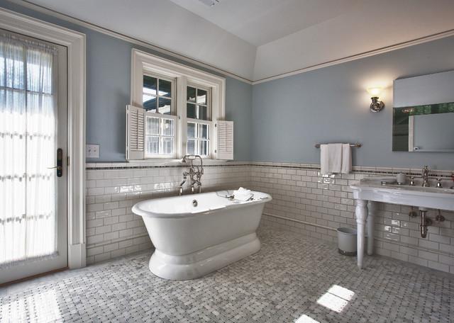 Country Villa traditional-bathroom