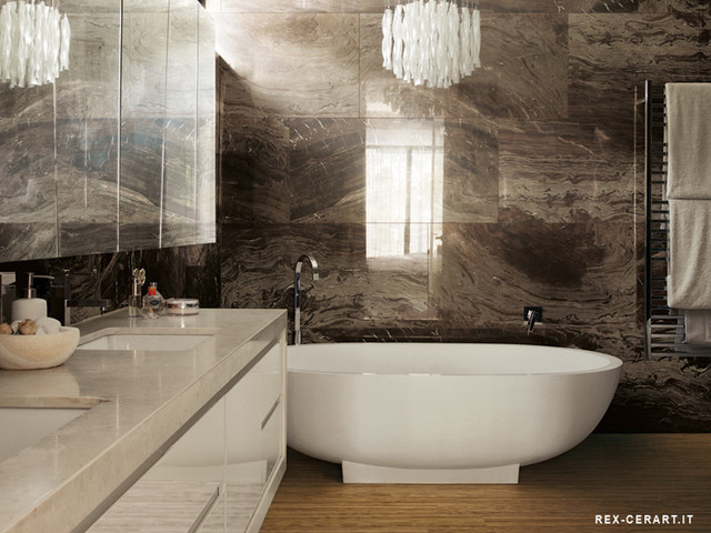 contemporary bathroom COVERINGS 2013