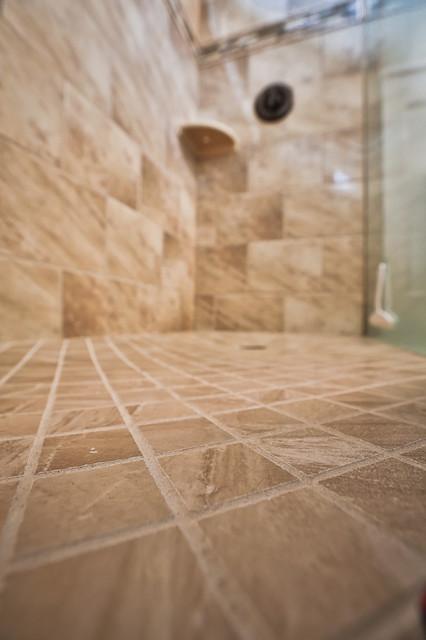 Cozy Finished Basement traditional-bathroom