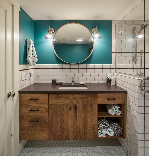 Cozy Laurelhurst Basement Remodel Portland OR Fusion Bathroom New Bathroom Remodel Portland Oregon