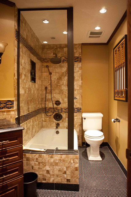 Craftsman bathroom remodel after american traditional for Bungalow bathroom designs