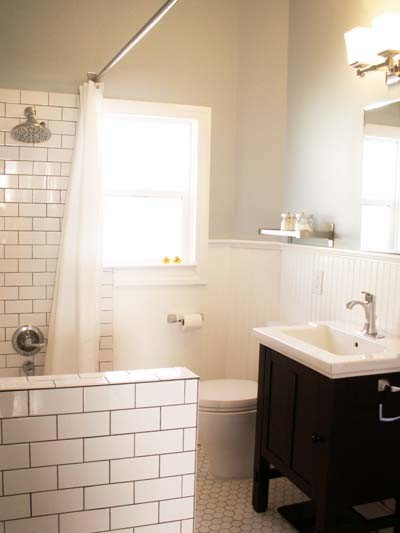 Craftsman bathroom remodel traditional bathroom san for Craftsman bathroom design