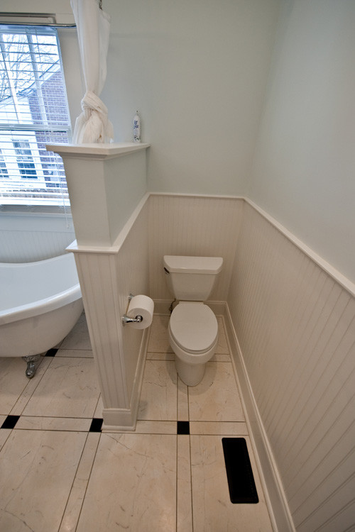 What Are The Dimensions Of Half Wall And Toilet Space