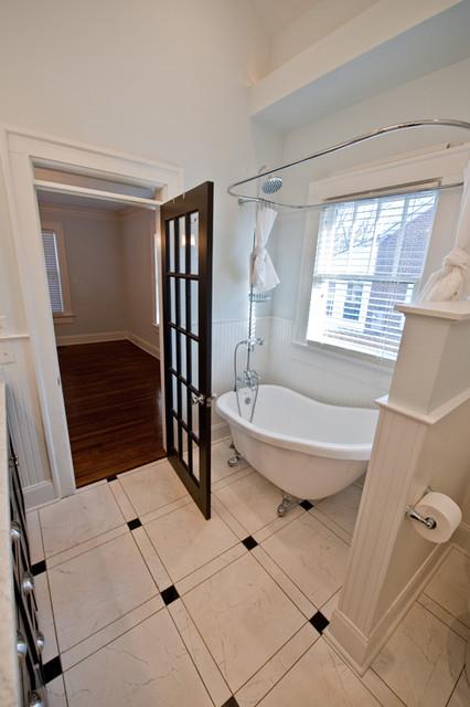 Craftsman bungalow renovation craftsman bathroom for Bungalow bathroom designs
