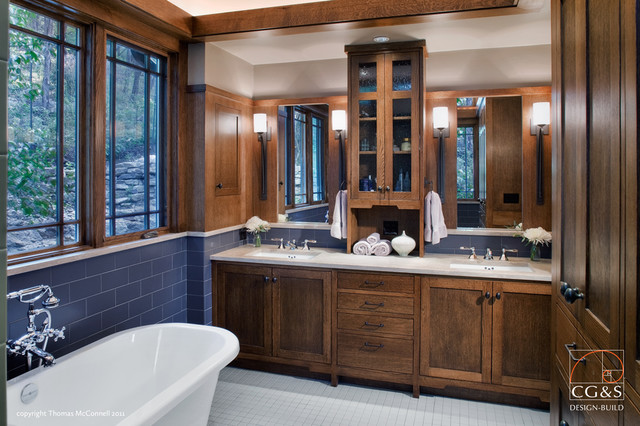 Craftsman done right craftsman bathroom austin by - Arts and crafts style bathroom design ...