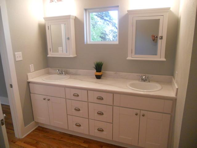 Craftsman Dual Vanity traditional-bathroom