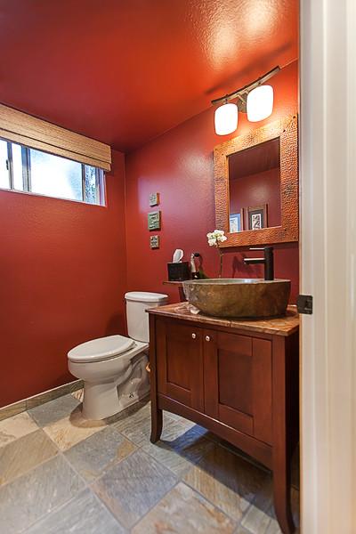 Craftsman Feel Los Angeles Area Powder Bathroom