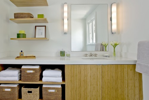 Craftsman Green Renovation contemporary bathroom