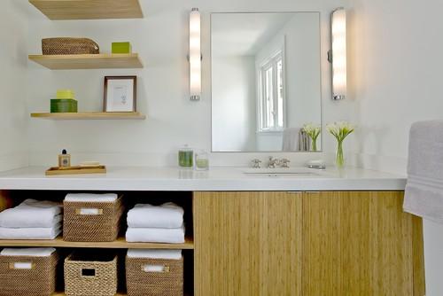 Craftsman Green Renovation contemporary bathroom