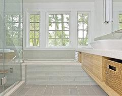 Craftsman Green Renovation contemporary-bathroom