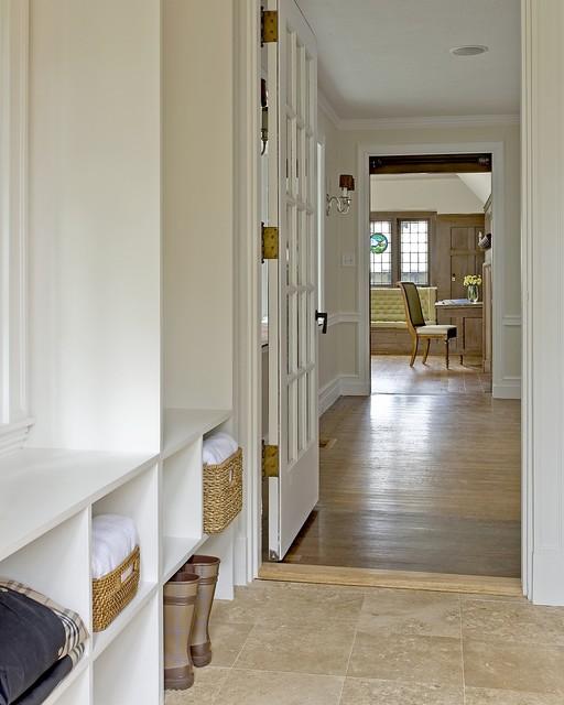Craftsman green renovation contemporary bathroom for Benjamin moore monterey white