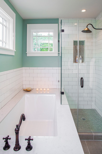 Craftsman Revived Transitional Bathroom Austin By Cg S Design Build