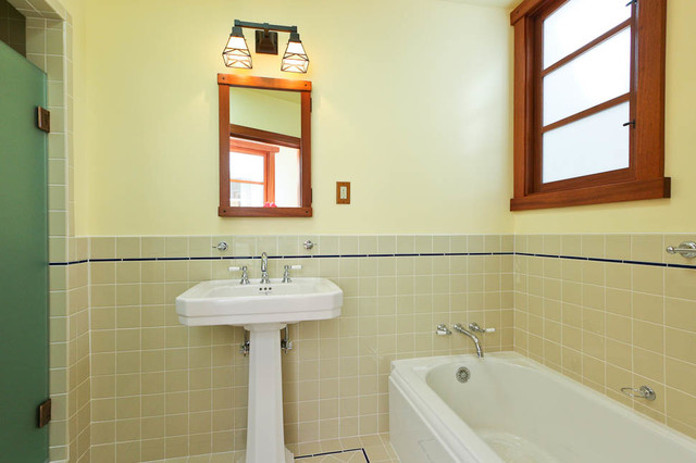 Craftsman Style Cottage Craftsman Bathroom San Francisco