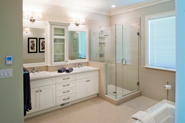 Craftsman style custom home traditional bathroom for Craftsman bathroom design