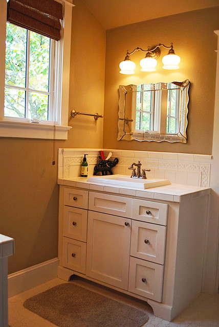 Craftsman style for Craftsman bathroom designs