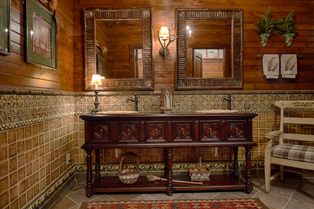 Craftsman style craftsman bathroom portland by for Adirondack bathroom ideas