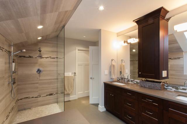 Craftsman with a Dash of Contemporary craftsman-bathroom