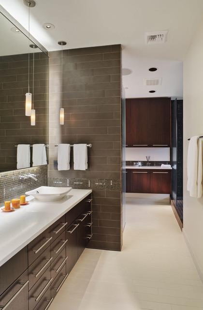 Crane Building Penthouse contemporary-bathroom