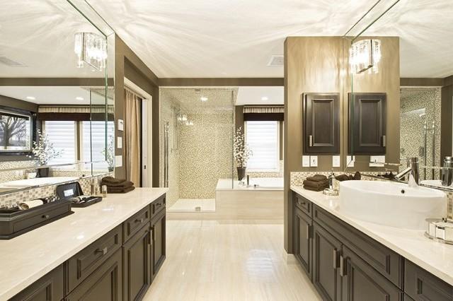 Cream And Earth Tone Bathroom Contemporary Bathroom