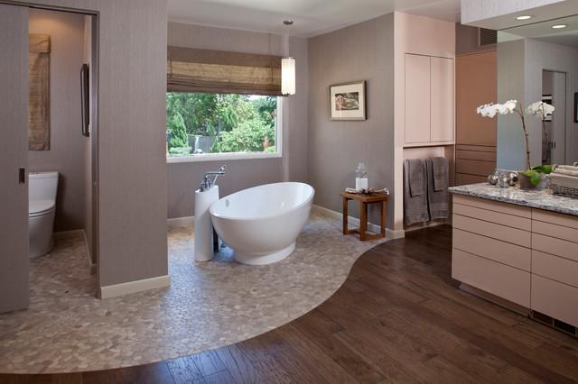Midtown Mid Century Master Bathroom Contemporary