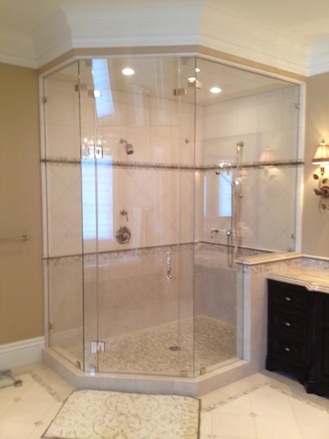 CreativeAGI Shower Door & Mirror Co contemporary-bathroom