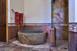 Creek Hollow Castle contemporary-bathroom