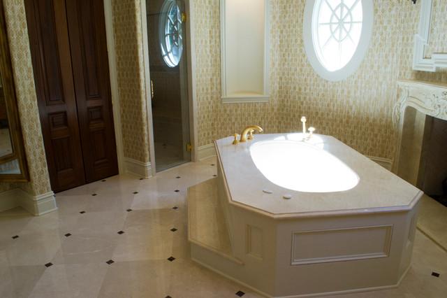Crema Marfil Bathrooms Traditional Bathroom Dallas By