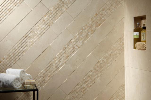 Crema Marfil Marble - Modern - Bathroom - Los Angeles - by Arizona Tile
