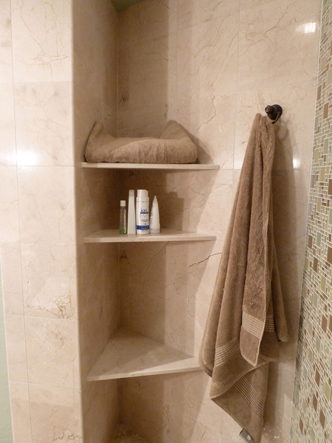 Crema Marfil Marble Shelves For Towels And Shower Products