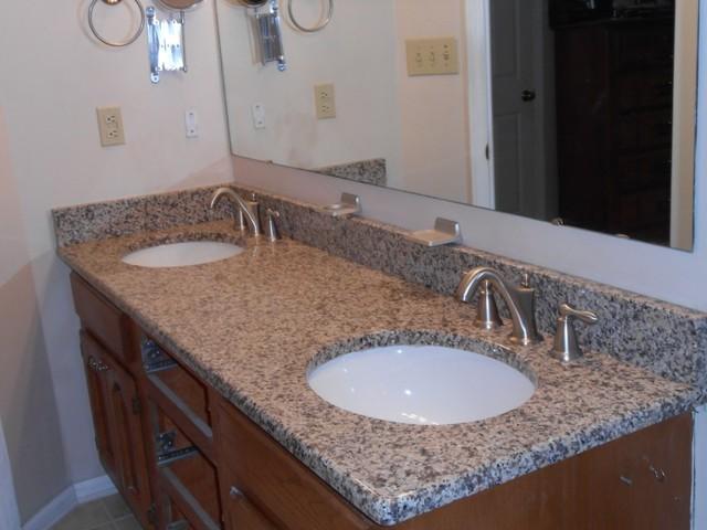 Creme Caramel Granite Traditional Bathroom Charlotte