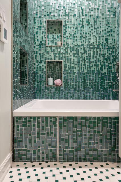 Gradient For Bathroom Floor : Crescendo custom gradient contemporary bathroom san