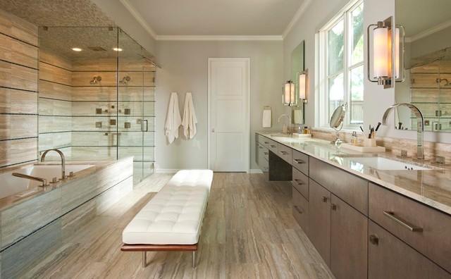 Crestbrook residence contemporary bathroom dallas for Bathroom remodel 10k