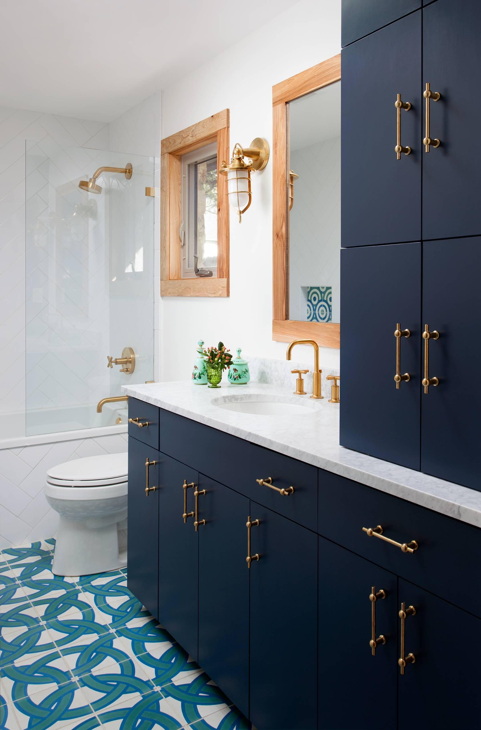 Navy And Gold Bathroom Ideas Houzz
