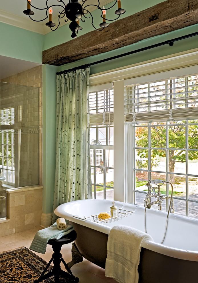 Freestanding bathtub - traditional freestanding bathtub idea in New York